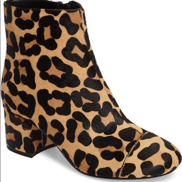 7245029c6ea8 Halogen Shoes | Genuine Calf Hair Leopard Ankle Boots | Poshmark